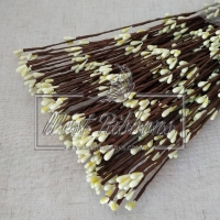 Веточка с тычинками 40 см , темно- молочная- 10 шт.