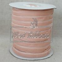 Лента велюр -мягкая 1 см, персиковая