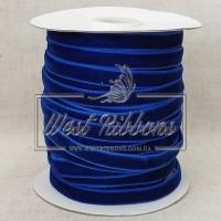 Лента велюр -мягкая 1 см, темно-синяя