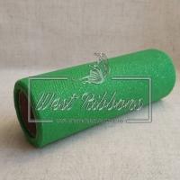 Фатин с блестками зелёный (рулон)