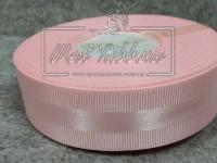 Репс с атласной полосой 2.5 см, розовый