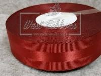 Репс с атласной полосой 2.5 см, бордовый