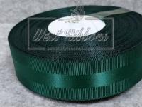 Репс с атласной полосой 2.5 см, темно-зелёный