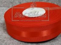 Репс с атласной полосой 2.5 см, красный
