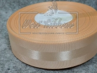 Репс с атласной полосой 2.5 см, персиковый