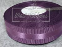Репс с атласной полосой 2.5 см, фиолетовый