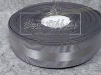 Репс с атласной полосой 2.5 см, серый