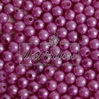 Жемчуг 8 мм, грязно-ср.фиолетовый (20 шт.)