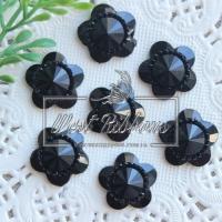 """С-ка  """"Цветок огранка""""   16 мм , черная"""