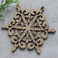 Деревянные украшения , снежинка № 51