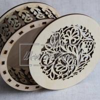 Коробочка для украшений (круглая)