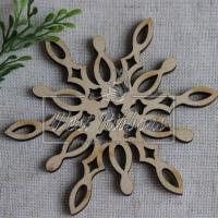 Деревянные украшения , снежинка № 44