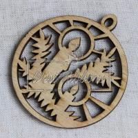 Деревянные украшения , шарик со свечкой +веточки № 46