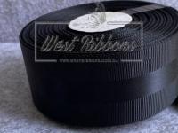Репс 4 см с атласной полосой, черный