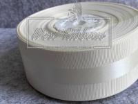 Репс 4 см с атласной полосой, молочный