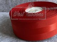 Репс 4 см с атласной полосой, красный