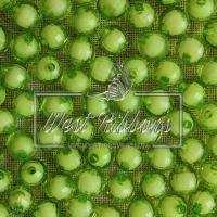 Хрусталька-жемчуг  10 мм ,  оливковая