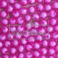 Хрусталька  -жемчуг  10 мм , ярко-розовая