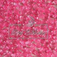 Хрусталька 8 мм , яр. розовая