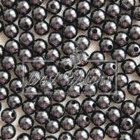 Жемчуг 6 мм черный ( 20 шт)