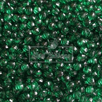 Хрусталька 8 мм , темно-зеленая