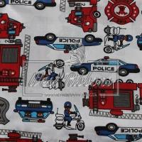 """Ткань """"Police"""" на белом"""