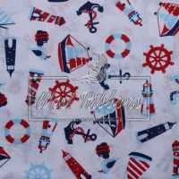 Ткань морская тематика