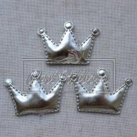 Аппликация корона ЭКО, серебро