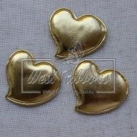 Аппликация сердечко ЭКО, золото