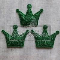 Аппликация корона БЛЕСК TV, зелёная (большая)
