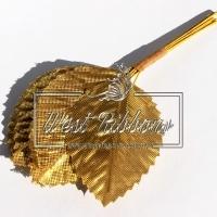 Листики  золото