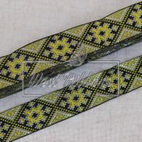 УКР.орнамент 2.8 см, св.оливковая