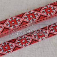 УКР.орнамент 2.8 см , ярко-красный