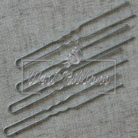 Шпильки для волос 8 см, серебро- 10 шт.