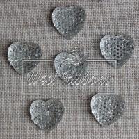 С-ка Сердце пупер 10 мм серебро new
