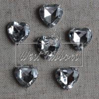 С-ка  сердце Бриллиант -прозрачная (маленькая)
