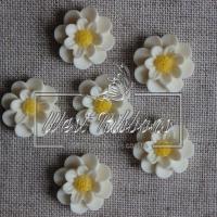C-ка Цветок  М-ША  2 см ,молочная