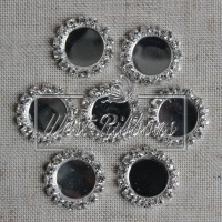С-ка со стразами- круглая 1.6 см (метал) маленькая