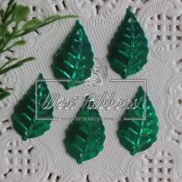 Пайетки листики, зеленые