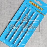 Крючки вязальные в синем (набор - 4 шт)