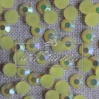 Стразы перламутровые 7 мм, желтые