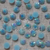 Стразы перламутровые 7 мм, голубые