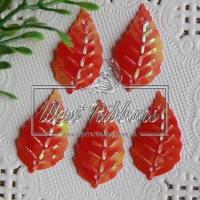 Пайетки листики, красные