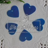 Пайетки -сердечки, синие