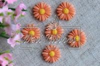 Серединка -хризантемка 2см,оранжевая