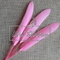 Перо длинное, яр.розовое