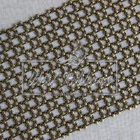 Шина декоративная, ПУСТОЙ-ЦВЕТОК  - темное-золото