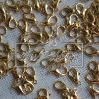 Карабин 1 см  золото