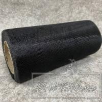 Фатин в рулонах , черный