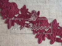 """Ажур """" Роза """"  4.5  см , бордовая"""